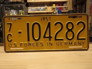 U.S.FORCES License Plate in GERMANY 1957年 used