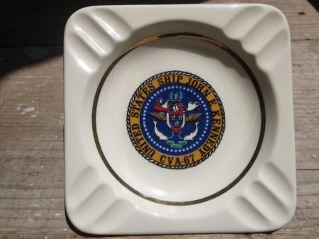 """U.S.NAVY AshTray """"USS JOHN F KENNEDY CVA-67"""""""