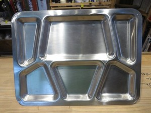 U.S.NAVY Stainless Mess Tray used