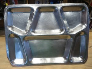 U.S.MARINE CORPS Stainless Mess Tray 1942年 used