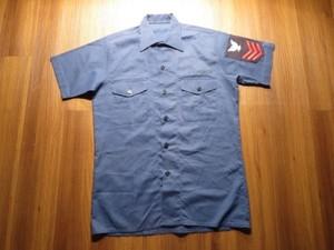 U.S.NAVY UtilityShirt poly/Cotton 1977年 sizeM used