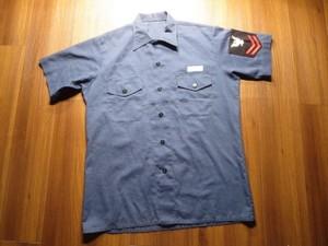 U.S.NAVY UtilityShirt poly/Cotton 1977年sizeXL?used