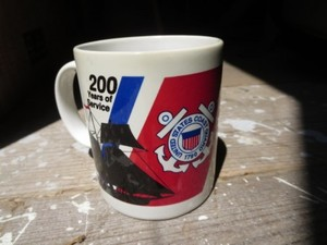 "U.S.COAST GUARD Mug ""200years of Service"" used"