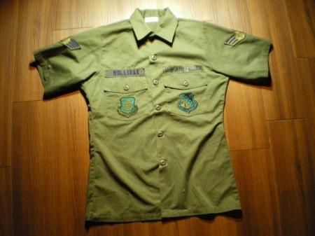 U.S.AIR FORCE Utility Shirt 1983年 size15 1/2