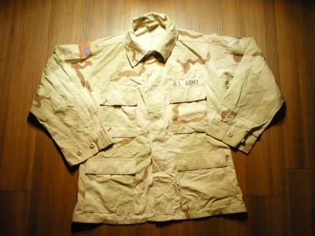 U.S.ARMY Coat Combat 3color sizeM-Short used