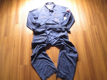 "U.S.NAVY Utility Coveralls ""VF-201"" size48L used"