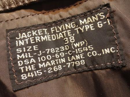 U.S.NAVY G-1 Jacket MIL-J-7823D 1969年 size38 used