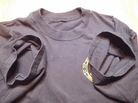 "U.S.MARINE CORPS T-Shirt ""SCHOOLofIN~"" sizeL? used"
