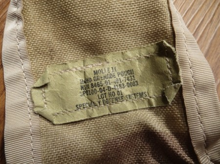 U.S.Pouch 3color Hand Grenade MOLLEⅡ used
