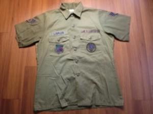 U.S.AIR FORCE Utility Shirt 1980年代 size16 1/2 used