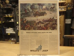 """U.S.Life誌 AD """"WILLYS"""" 1940年代? (切り抜き実物です)"""