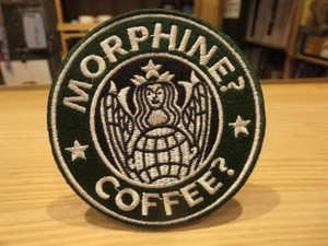 "U.S.Patch ""MORPHINE? COFFEE"" used"