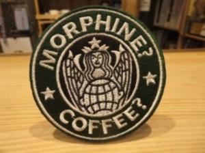 """U.S.Patch """"MORPHINE? COFFEE"""" used"""