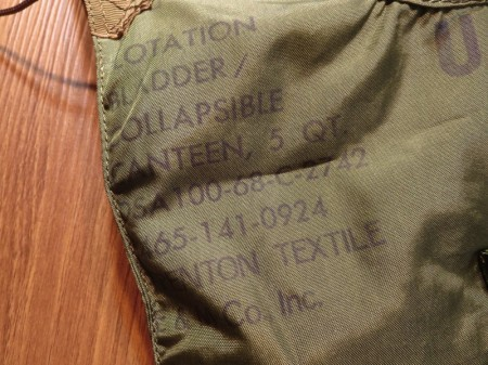U.S.Canteen Collapsible with Cover 1968年 used