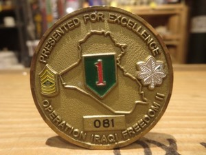 """U.S.ARMY Challenge Coin """"1st INFANTRY DIVISION"""""""