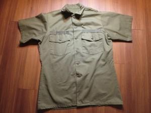 "U.S.NAVY Utility Shirt ""SEABEES"" 1978年 size15 1/2?"