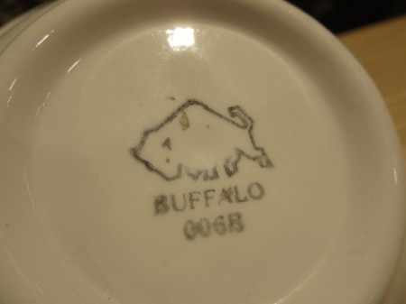 "U.S.ARMY Bowl Small Medical ""BUFFALO CHINA"" new?"