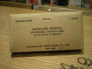 U.S.Bandage Muslin Compressed Camo~ 1960年代 new