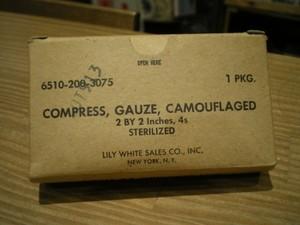 U.S. Compress Gauze Camouflaged 1960年代 new