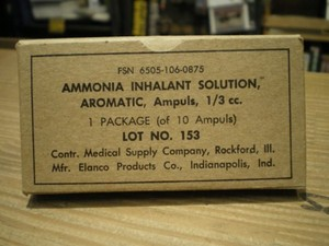 U.S.Ammonia Inhalant Solution Aromatic 1960年代 new