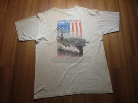 "U.S.NAVY T-Shirt ""ABUSOLUTE NAVY"" sizeL used"