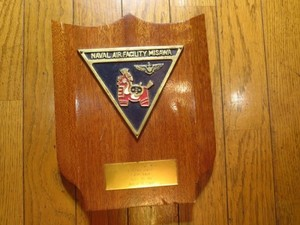 "U.S.NAVY Plaque ""Naval Air Facility Misawa"" used"
