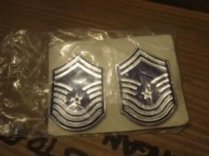 "U.S.AIR FORCE Insignia ""ChiefMasterSergeant"" 1985年"