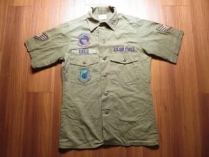 U.S.AIR FORCE Utility Shirt 1980年代 size14 1/2 used