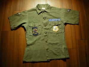 U.S.AIR FORCE Shirt Cotton 1975年 size14 1/2? used