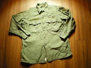U.S.ARMY Shirt Cotton Utility 1972年 size16 1/2?