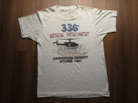 "U.S.ARMY T-Shirt""336thMedicalDetachment"" sizeMused"