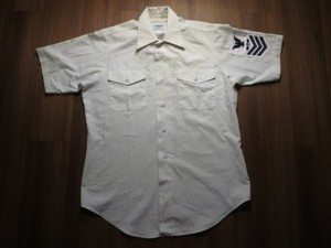 "U.S.NAVY Shirt Utility ""AVIATION ST~"" sizeS? used"