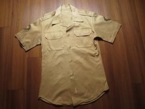 U.S.ARMY Shirt Cotton Khaki 1970年代 sizeM used