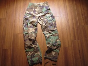 U.S.Trousers Combat Woodlnd 100%Cotton sizeXS used