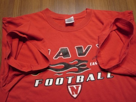 "U.S.NAVY t-shirt ""FOOTBALL"" sizeXL used"