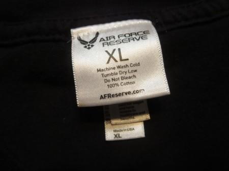 U.S.AIR FORCE RESERVE T-Shirt sizeXL used