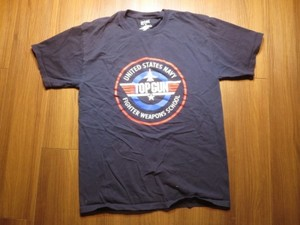 "U.S.NAVY T-Shirt ""TOPGUN"" sizeM used"