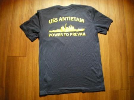 "U.S.NAVY T-Shirt Athletic ""USS ANTIETAM"" sizeS"