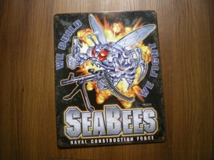 """U.S.NAVY Metal Signature """"SEABEES"""""""