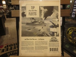 """U.S.Life誌 AD """"DODGE"""" 1940年代 (切り抜き実物です)"""