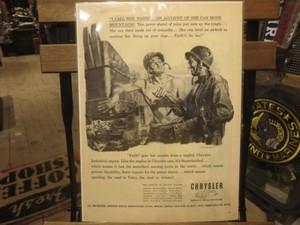 "U.S.Life誌 AD ""CHRYSLER"" 1940年代(切り抜き実物です)"