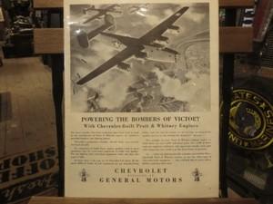 """U.S.Life誌 AD """"CHEVROLET"""" 1940年代 (切り抜き実物です)"""