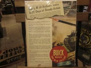 """U.S.Life誌 AD """"BUICK"""" 1940年代 (切り抜き実物です)"""