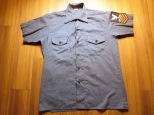 U.S.NAVY Utility Shirt 1977年 sizeL used