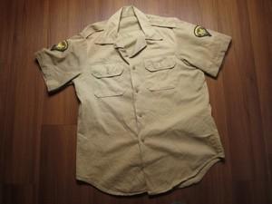 U.S.ARMY Shirt Cotton Khaki 1960-70年代 sizeM used