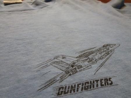 "U.S.NAVY T-Shirt""VF-124 GUNFIGHTERS"" sizeL used"
