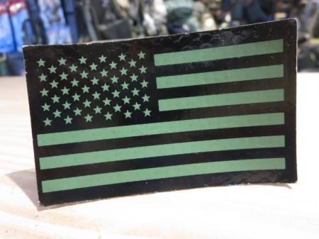 """U.S.IR? Patch""""The Stars and Stripes"""" Reverse used"""