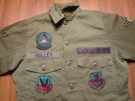 U.S.AIR FORCE Utility Shirt 1985年 size14 1/2 used