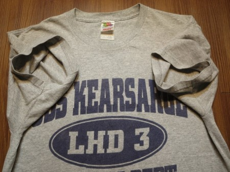 "U.S.NAVY T-Shirt ""USS KEARSARGE LHD-3"" sizeL used"