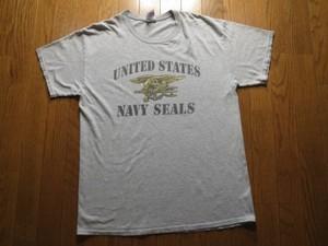 "U.S.NAVY T-Shirt""SEALS"" sizeL used"